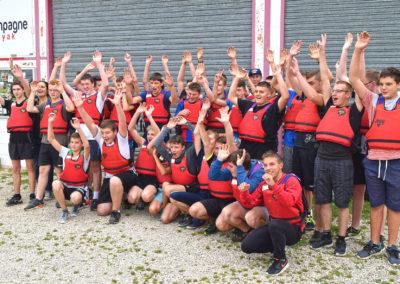 journée de kayak en groupe